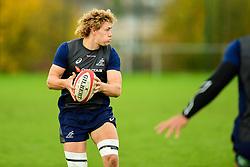 Ned Hanigan during training - Ryan Hiscott/JMP - 08/11/2018 - RUGBY - Llanwern High School - Newport, Wales - Australia Rugby Training Session