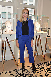 BECKY TONG at a party to celebrate the launch of the new Stephen Webster Salon at 130 Mount Street, London on 18th May 2016.