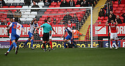 Blackburn Rovers striker, Jordan Rhodes (11) celebrating after scoring during the Sky Bet Championship match between Charlton Athletic and Blackburn Rovers at The Valley, London, England on 23 January 2016. Photo by Matthew Redman.