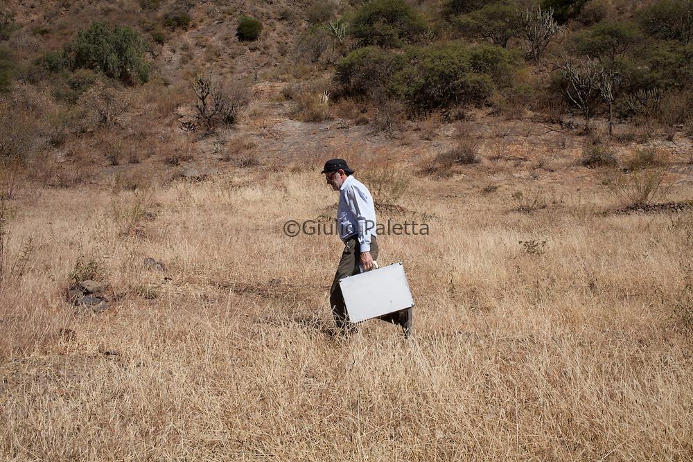 Italian doctor Pietro Gamba near Anzaldo, in the Bolivian Andes