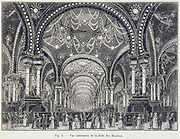 La Salle des Illusions', Paris, September 1900. Illustration showing the electrical illuminations at the International Exhibition, Paris, 1900.From 'La Nature' (Paris, 1 September 1900).
