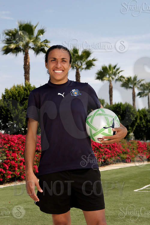 19 March 2009: Exclusive Portrait of Olympic Soccer star Marta Vieira da Silva forward player of the Los Angeles SOL Women's Soccer Team during a mid-day pre-season practice at the Track and Field stadium at Home Depot Sports Complex in Carson, California.  Marta, 23 from Dois Riachos, Alagoas, Brazil (BRA) is a three-time FIFA Women's World Player of the Year. .