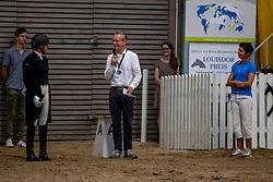 HEMMER Katharina (GER), Signorina 10, TOENJES Jan (Moderation), THEODORESCU Monica (Bundestrainer)<br /> Louisdor Preis <br /> Nachwuchspferde Grand Prix - Finalqualifikation<br /> Verden - Verdener Championate 2020<br /> 09. August 2020<br /> © www.sportfotos-lafrentz.de/Stefan Lafrentz