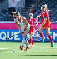 ANTWERPEN -  Ireland-Russia (3-2) . Belfius Eurohockey Championship (women) hockey. Deirdre Duke (Irl) with Anastasia Kolpakova (Rus)  WSP/ KOEN SUYK