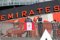 Middlesbrough fans outside the Emirates Stadium - Photo mandatory by-line: Rogan Thomson/JMP - 07966 386802 - 15/02/2015 - SPORT - FOOTBALL - London, England - Emirates Stadium - Arsenal v Middlesbrough - FA Cup Fifth Round Proper.