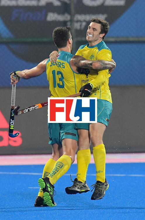 Odisha Men's Hockey World League Final Bhubaneswar 2017<br /> Match id:09<br /> Australia v England<br /> Foto: Australia scored a goal<br /> WORLDSPORTPICS COPYRIGHT FRANK UIJLENBROEK