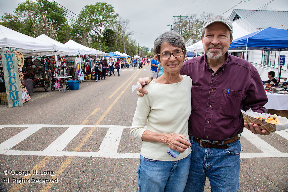 Martha and David Gruning at the Abita Springs Whole Town Garage Sale; March 26, 2016