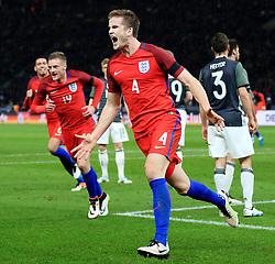England's Eric Dier (Tottenham Hotspur) celebrates after scoring a late winner for 2-3 - Mandatory by-line: Matt McNulty/JMP - 26/03/2016 - FOOTBALL - Olympiastadion - Berlin, Germany - Germany v England - International Friendly