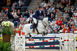 PHILIPPAERTS Olivier (BEL), Cigaret JVH Z<br /> Göteborg - Gothenburg Horse Show 2019 <br /> Gothenburg Trophy presented by VOLVO<br /> Int. jumping competition with jump-off (1.55 m)<br /> Longines FEI Jumping World Cup™ Final and FEI Dressage World Cup™ Final<br /> 06. April 2019<br /> © www.sportfotos-lafrentz.de/Stefan Lafrentz