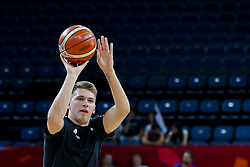 Luka Doncic of Slovenia prior to the basketball match between National Teams of Slovenia and Spain at Day 15 in Semifinal of the FIBA EuroBasket 2017 at Sinan Erdem Dome in Istanbul, Turkey on September 14, 2017. Photo by Vid Ponikvar / Sportida