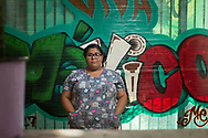 Evelyn - nurse who works in San Diego and lives in Tijuana<br /> <br /> San Diego. California. Foto Mauricio Bustamante. 6.10.17