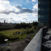 October 4, 2016 - New York, N.Y. : A view of the lawn at the southern end of the City College campus, and the City College Center for Discovery and Innovation, at right, at the City College of New York on Tuesday afternoon, October 4. <br /> CREDIT: Karsten Moran for The New York Times