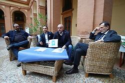 DA SX ALAN FABBRI MATTEO FORNASINI MAURO MALAGUTI ALBERTO BALBONI<br /> CONFERENZA CENTRODESTRA ELEZIONI PROVINCIALI