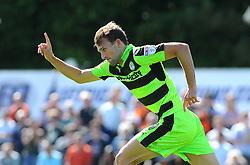 Christian Doidge of Forest Green Rovers celebrates his goal- Mandatory by-line: Nizaam Jones/JMP - 05/08/2017 - FOOTBALL - New Lawn Stadium - Nailsworth, England - Forest Green Rovers v Barnet - Sky Bet League Two