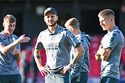 Leeds United midfielder Mateusz Klich (43) and Leeds United midfielder Mateusz Bogusz (44) arrives at the ground during the EFL Cup match between Salford City and Leeds United at Moor Lane, Salford, United Kingdom on 13 August 2019.