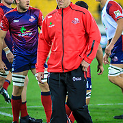 Bad Thorn coach of the Reds before the Super rugby union game (Round 14) played between Hurricanes v Reds, on 18 May 2018, at Westpac Stadium, Wellington, New  Zealand.    Hurricanes won 38-34.