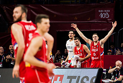 Vladimir Stimac of Serbia reacts during basketball match between National Teams of Russia and Serbia at Day 16 in Semifinal of the FIBA EuroBasket 2017 at Sinan Erdem Dome in Istanbul, Turkey on September 15, 2017. Photo by Vid Ponikvar / Sportida