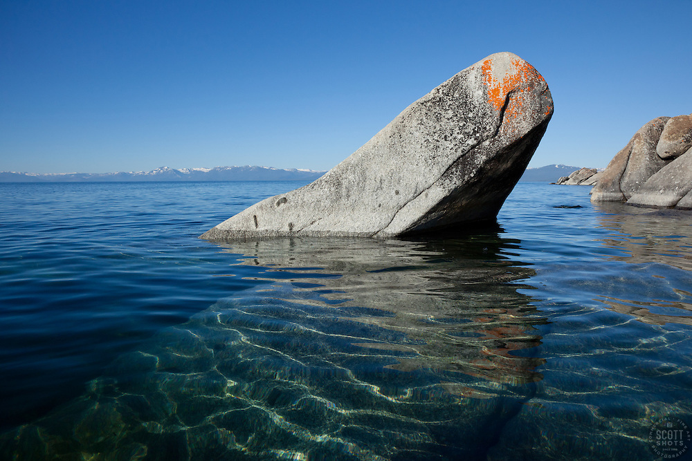 """Boulders on Lake Tahoe 23"" - These boulders were photographed in the morning near Speedboat Beach, Lake Tahoe."