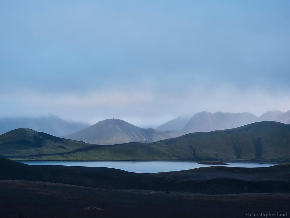 Lake Frostastaðavatn in Fjallabak Nature Reserve, Interior of Iceland.