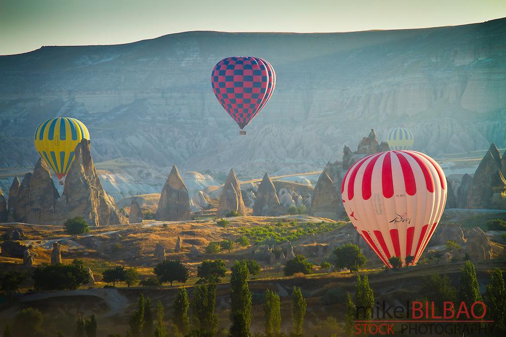 Hot-air ballons. Capadoccia, Turkey