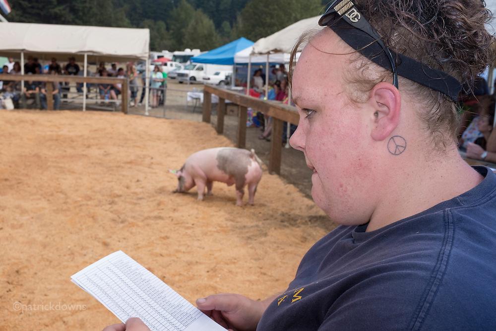 FFA/4-H pig auction, Clallam County Fair.