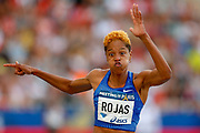 Yulimar Rojas, Venezuela, Women's Triple Jump, during the Diamond League Meeting at Stade Charlety, Paris, France on 24 August 2019.