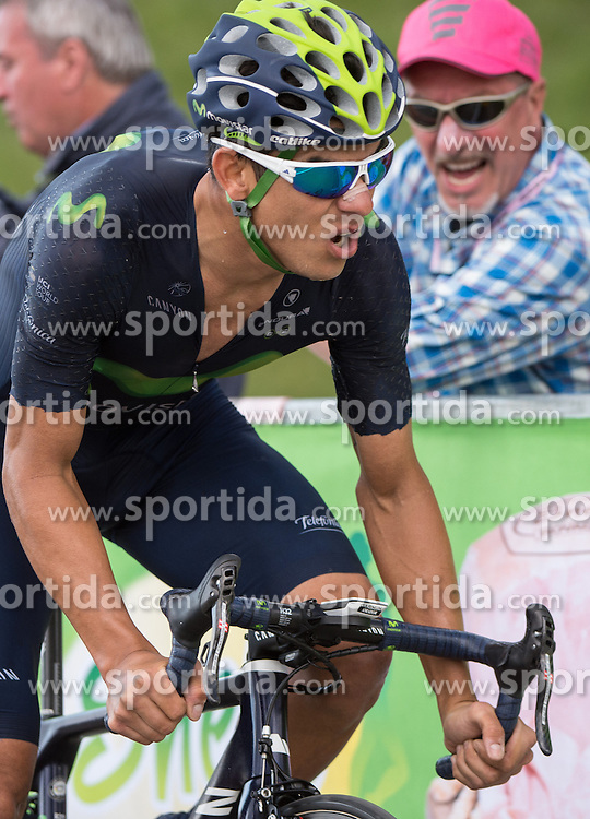 22.05.2016, Kastelruth nach Seiseralm, ITA, Giro d Italia 2016, 15. Etappe, im Bild Andrey Amador (CRC, Team Movistar) // during 15th Stage, from Castelrotto to Alpe di Siusi of the Giro d Italia at. in Kastelruth nach Seiseralm, Italy on 2016/05/22. EXPA Pictures © 2016, PhotoCredit: EXPA/ Reinhard Eisenbauer