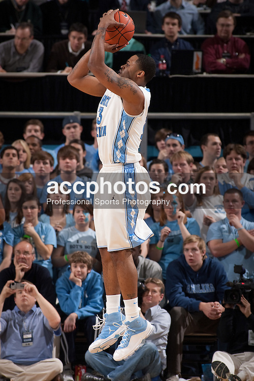 16 January 2010: North Carolina Tar Heels  forward Will Graves (13) during a 71-73 loss to the Georgia Tech Ramblin Wreck at the Dean E. Smith Center in Chapel Hill, NC.