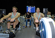 Birmingham, GREAT BRITAIN, CUBC's Sebastian SCHULTE [left] and Thorsten ENGLMENN, competing at the British Indoor Rowing Championships, National Indoor Arena, Birmingham, ENGLAND. 12/11/2006, [Photo, Peter Spurrier/Intersport-images].....