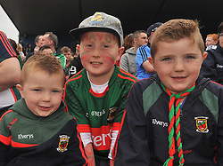 Supporting Mayo Rian and Aaron Burke with Thomas Brennan at the Connacht Final in Dr. Hyde Park.<br /> Pic Conor McKeown