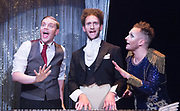 How to win against History <br /> by Seiriol Davies<br /> At The Young Vic, London, Great Britain <br /> Press photocell  <br /> 1st December 2017 <br /> <br /> L to R:<br /> Matthew Blake <br /> Dylan Townley <br /> Seiriol Davies<br /> <br /> Photograph by Elliott Franks <br /> Image licensed to Elliott Franks Photography Services