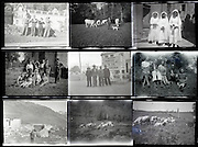 contact sheet with family and vacation photos from the 1950s 1960s South France Languedoc