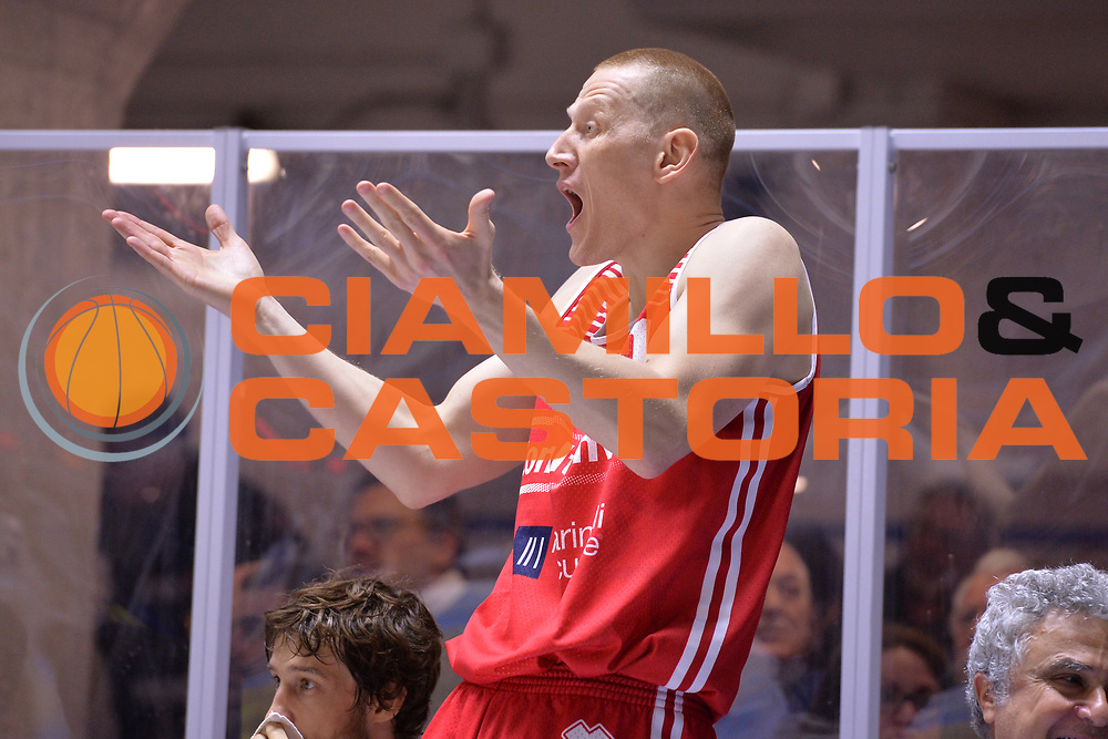 Zavackas Donatas<br /> Enel Brindisi - Consultinvest Pesaro<br /> BASKET Serie A 2016 <br /> Brindisi 09/04/2017<br /> FOTO CIAMILLO / M.Longo