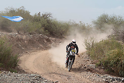 Slovenian Enduro Biker Miran Stanovnik competes during 34th rally Dakar - 2012 edition from Mar del Plata across Argentina, Chile and Peru towards Lima, on January 4, 2012. (Photo by MaindruPhoto)