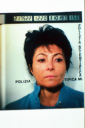 Italy, Milan - May 01, 1994.Patrizia Reggiani arrested..Patrizia Reggiani arranged the murder of her ex-husband Maurizio Gucci in 1995, and she was sentenced to 26 years in prison in 1998. (Credit Image: © Ponti/Fotogramma/Ropi via ZUMA Press)