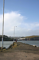Pier at Dunmore East harbour, County Waterford, Ireland