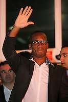 Didier Drogba receives a warm welcome as he arrives in Istanbul on the evening of 8th Feb - having agreed to join Galatasaray in the January transfer window