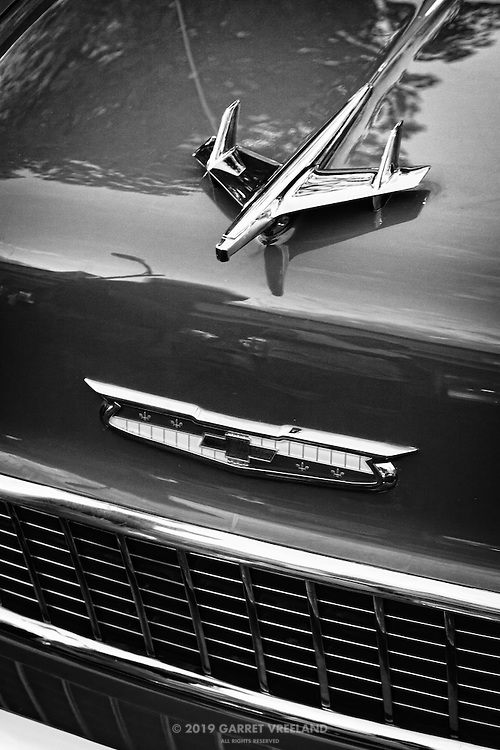 Vintage Chevy hood ornament.