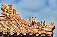 roof gardians  Forbidden City of Beijing China