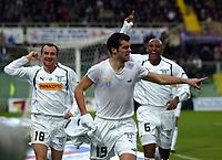 Cagliari 09-01-2005<br /> Campionato  Serie A Tim 2004-2005<br /> Fiorentina Lazio<br /> nella  foto esultanza gol di Pandev<br /> Foto Snapshot / Graffiti
