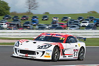 Lanan Racing #51 Ginetta G55 GT4 Alex Reed/David Pittard GT4 Silverduring British GT Championship as part of the BRDC British F3/GT Championship Meeting at Oulton Park, Little Budworth, Cheshire, United Kingdom. April 15 2017. World Copyright Peter Taylor/PSP.  Copy of publication required for printed pictures.  Every used picture is fee-liable. http://archive.petertaylor-photographic.co.uk
