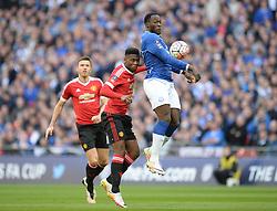 Romelu Lukaku of Everton controls the ball. - Mandatory by-line: Alex James/JMP - 23/04/2016 - FOOTBALL - Wembley Stadium - London, England - Everton v Manchester United - The Emirates FA Cup Semi-Final