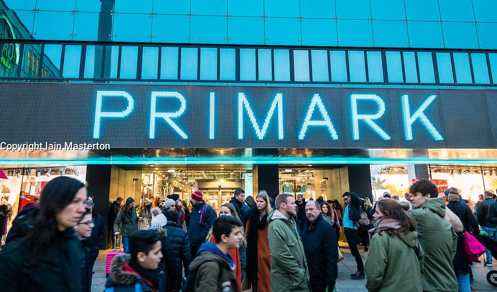 Primark store at Alexanderplatz in Berlin Germany