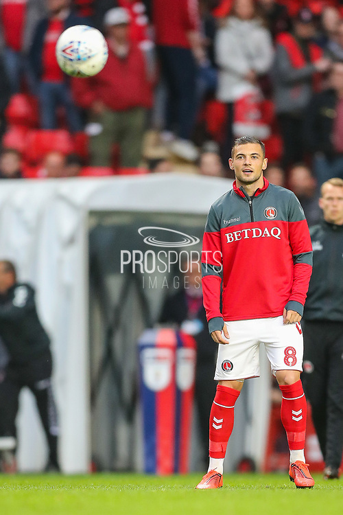 Charlton Athletic midfielder Jake Forster-Caskey (8) during the EFL Sky Bet League 1 second leg Play-Off match between Charlton Athletic and Doncaster Rovers at The Valley, London, England on 17 May 2019.