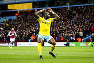 Yannick Bolasie of Crystal Palace rues a near miss during the Barclays Premier League match at Villa Park, Birmingham<br /> Picture by Andy Kearns/Focus Images Ltd 0781 864 4264<br /> 01/01/2015
