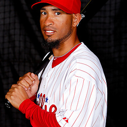 February 22, 2011; Clearwater, FL, USA; Philadelphia Phillies shortstop Wilson Valdez (21) poses during photo day at Bright House Networks Field. Mandatory Credit: Derick E. Hingle