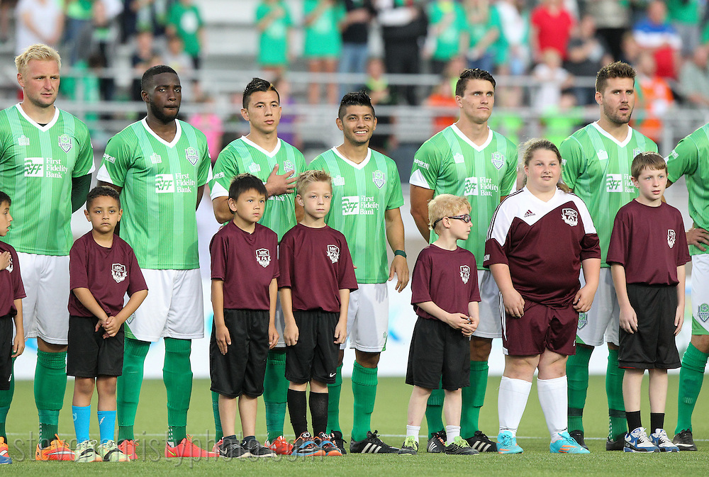 April 18, 2015: The OKC Energy FC plays the Seattle Sounders FC 2 in a USL Pro game at Taft Stadium in Oklahoma City, Oklahoma.