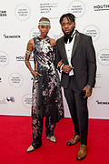 International Young Patrons Gala 2019 van het  Nationale Opera & Ballet in de Stopera, Amsterdam.<br /> <br /> Op de foto:  model Nella Ngingo (L)