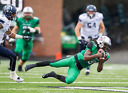 Oct 3, 2015; Huntington, WV, USA; Marshall Thundering Herd wide receiver Deandre Reaves catches a pass during the second quarter against the Old Dominion Monarchs at Joan C. Edwards Stadium. Mandatory Credit: Ben Queen-USA TODAY Sports