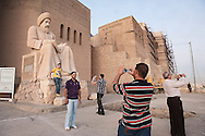 The entrance of Old Citadel of Erbil in Iraqi Kurdistan. The tourists visit the site from all parts of Iraq and abroad. The foreigner visitors to Kurdistan Region are growing in number. Erbil Citadel Town, which is situated on top of an artificial, 32-meters high earthen mound, and visually dominating the expansive modern city of Erbil, is believed to have been in continuous existence for 7000 years or even more.